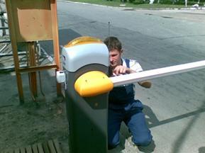 Монтаж автоматических шлагбаумов